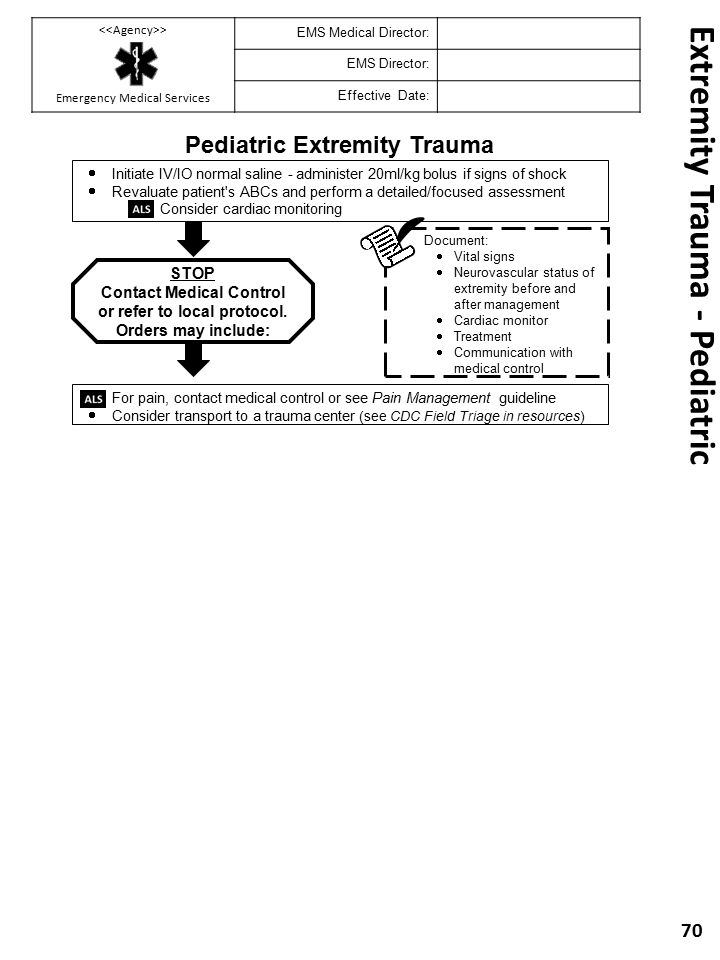Extremity Trauma - Pediatric