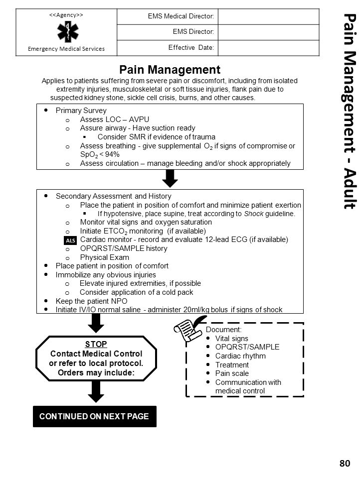 Pain Management - Adult