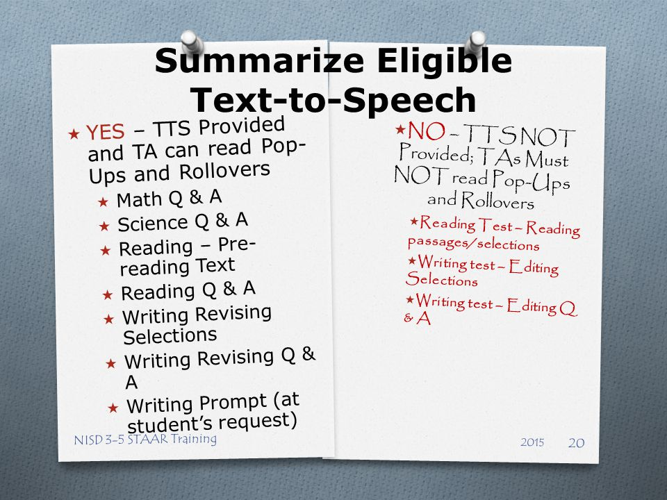 Summarize Eligible Text-to-Speech
