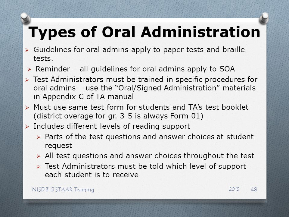 Types of Oral Administration