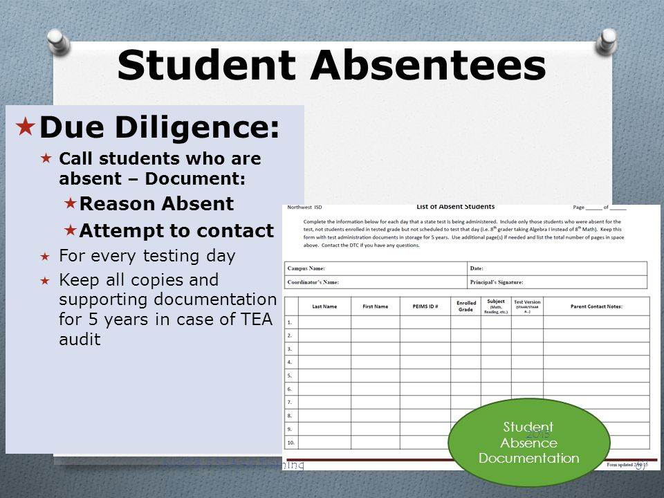 Student Absence Documentation