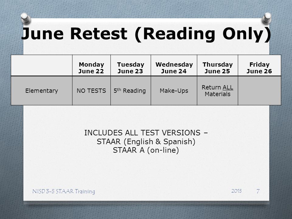 June Retest (Reading Only)