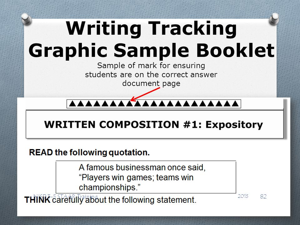 Writing Tracking Graphic Sample Booklet