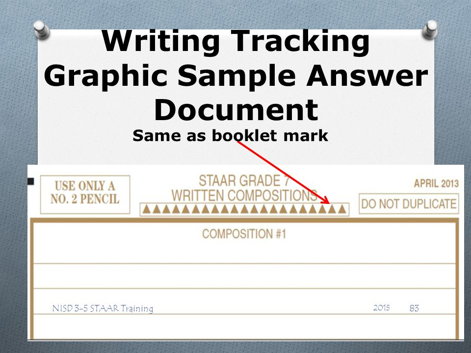 Writing Tracking Graphic Sample Answer Document