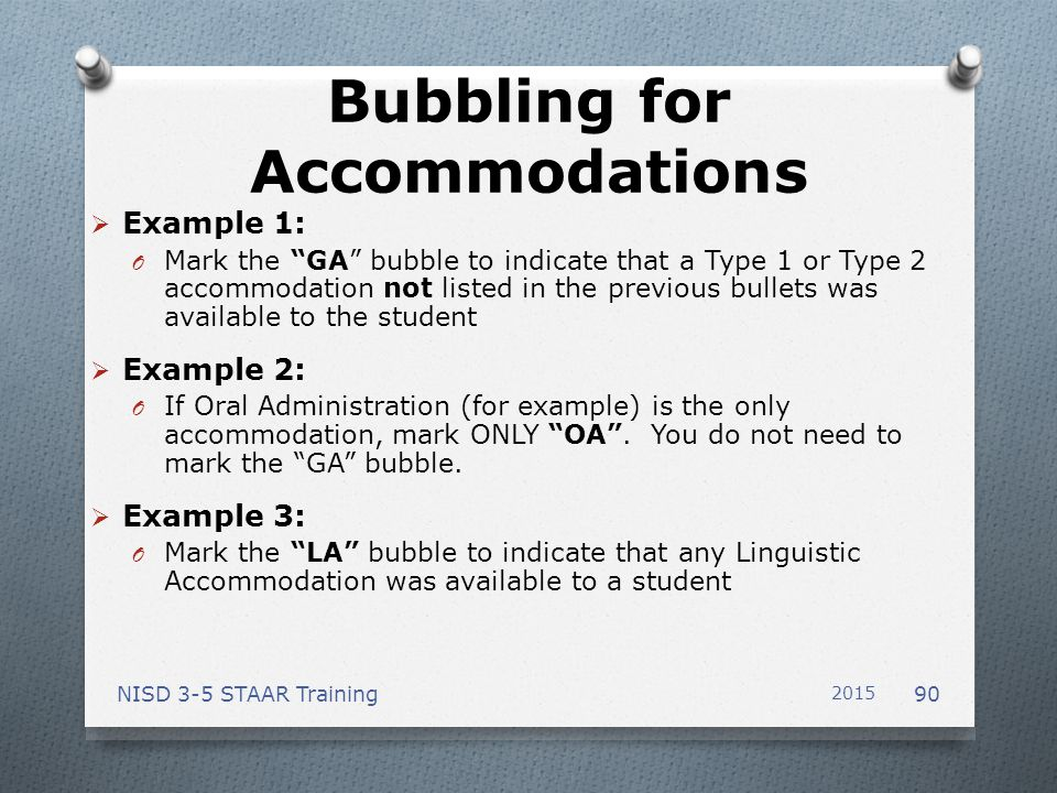 Bubbling for Accommodations