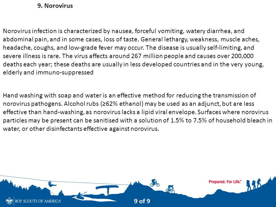 9. Norovirus