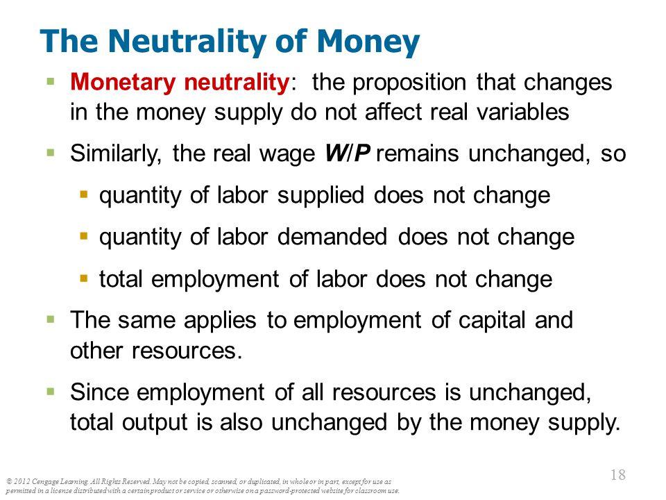The Neutrality of Money