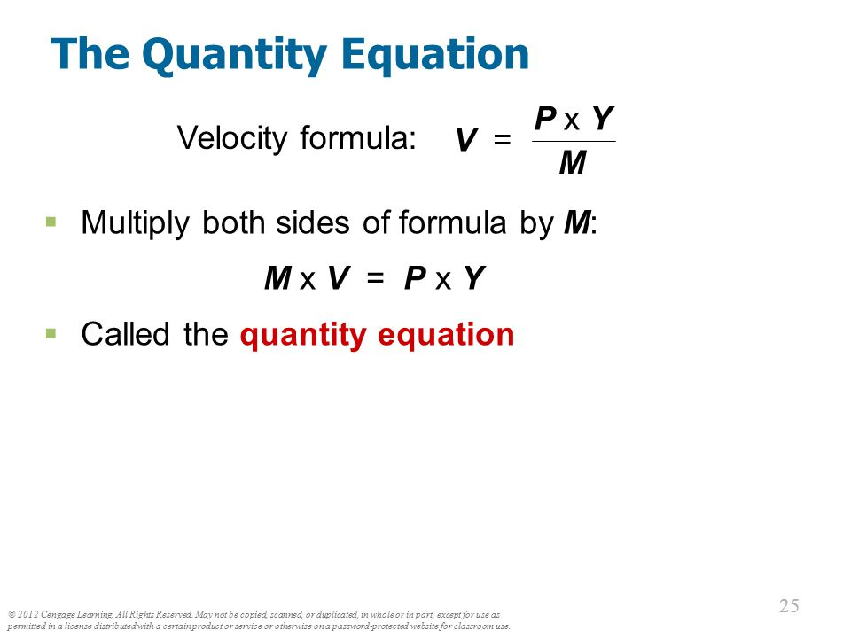 The Quantity Theory in 5 Steps