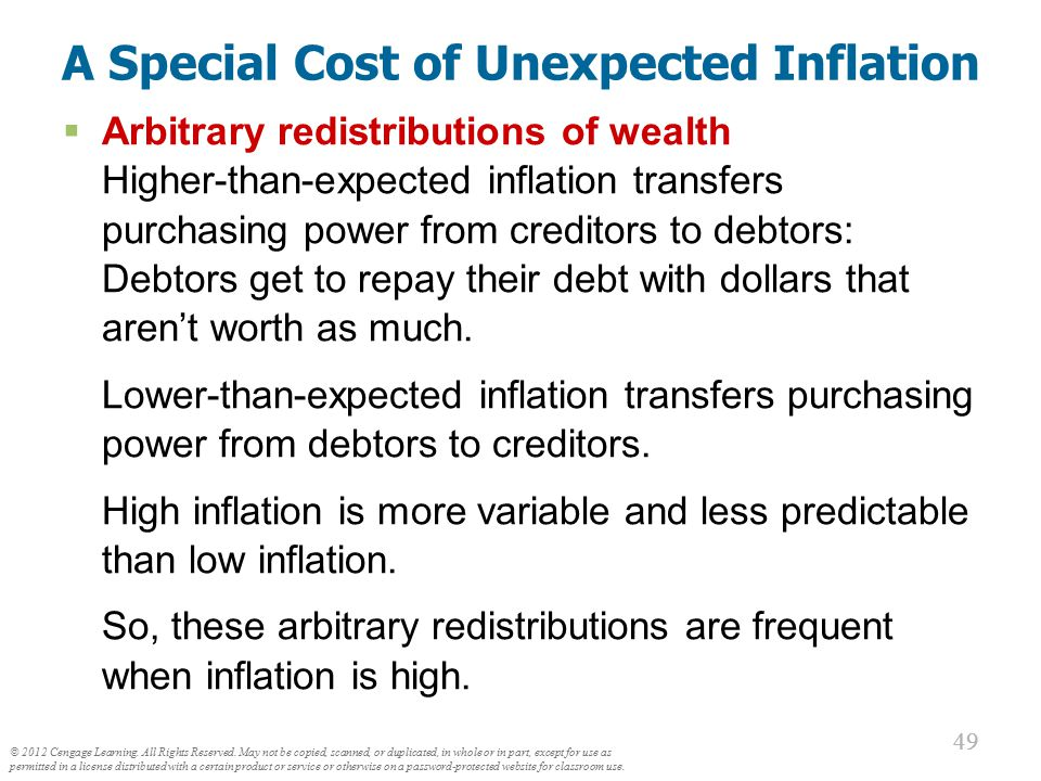 The Costs of Inflation All these costs are quite high for economies experiencing hyperinflation.