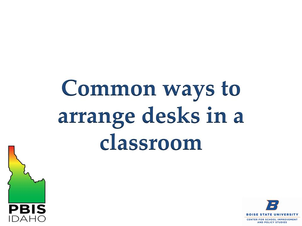 Common ways to arrange desks in a classroom