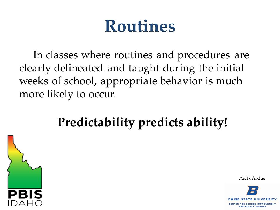 Predictability predicts ability!