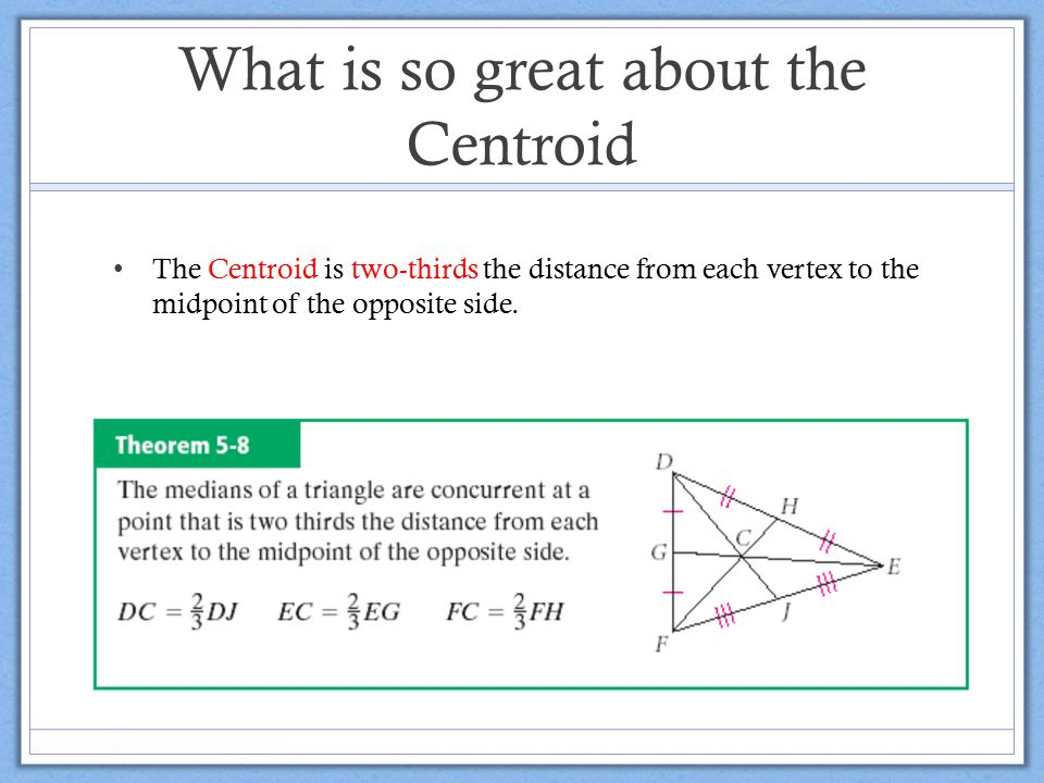 What is so great about the Centroid
