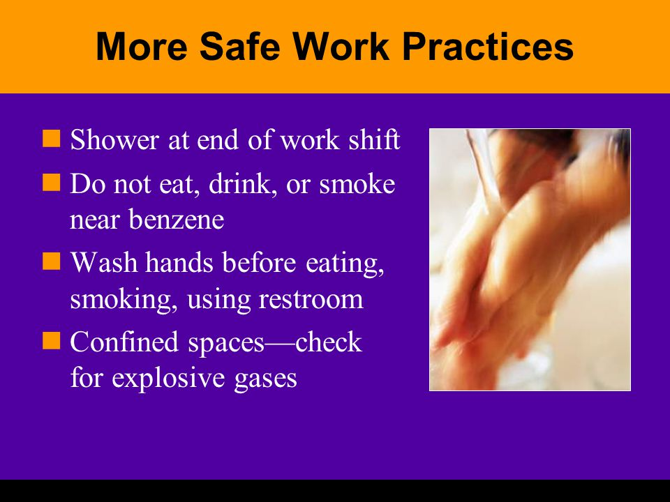 More Safe Work Practices