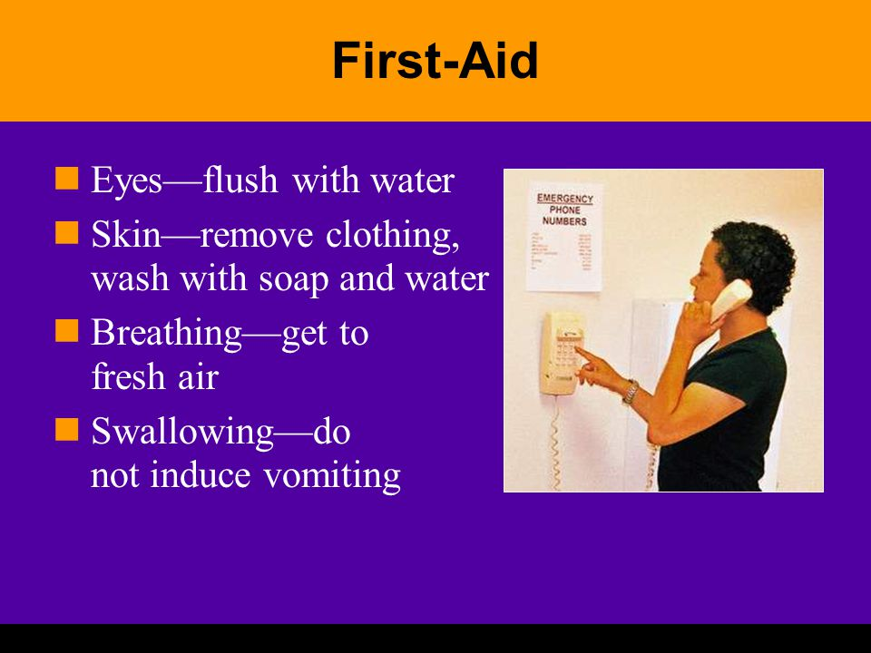 First-Aid Eyes—flush with water