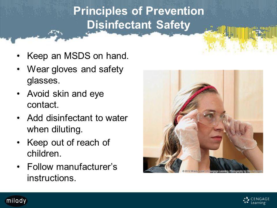 Principles of Prevention Disinfectant Safety