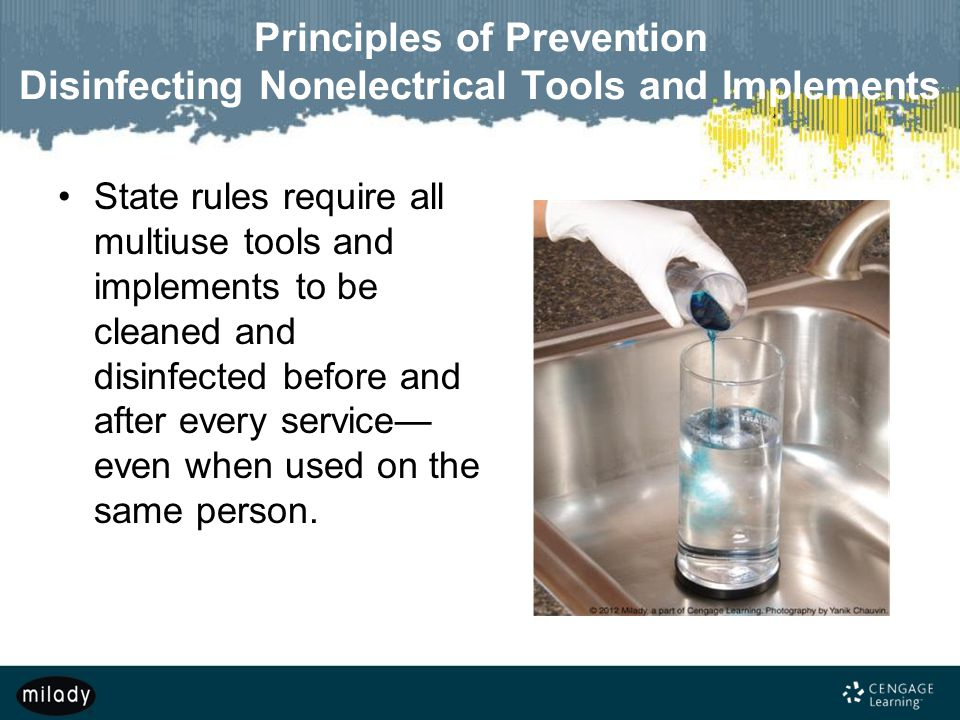Principles of Prevention Disinfecting Nonelectrical Tools and Implements