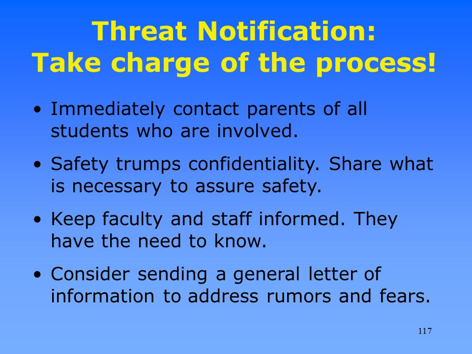 Threat Notification: Take charge of the process!