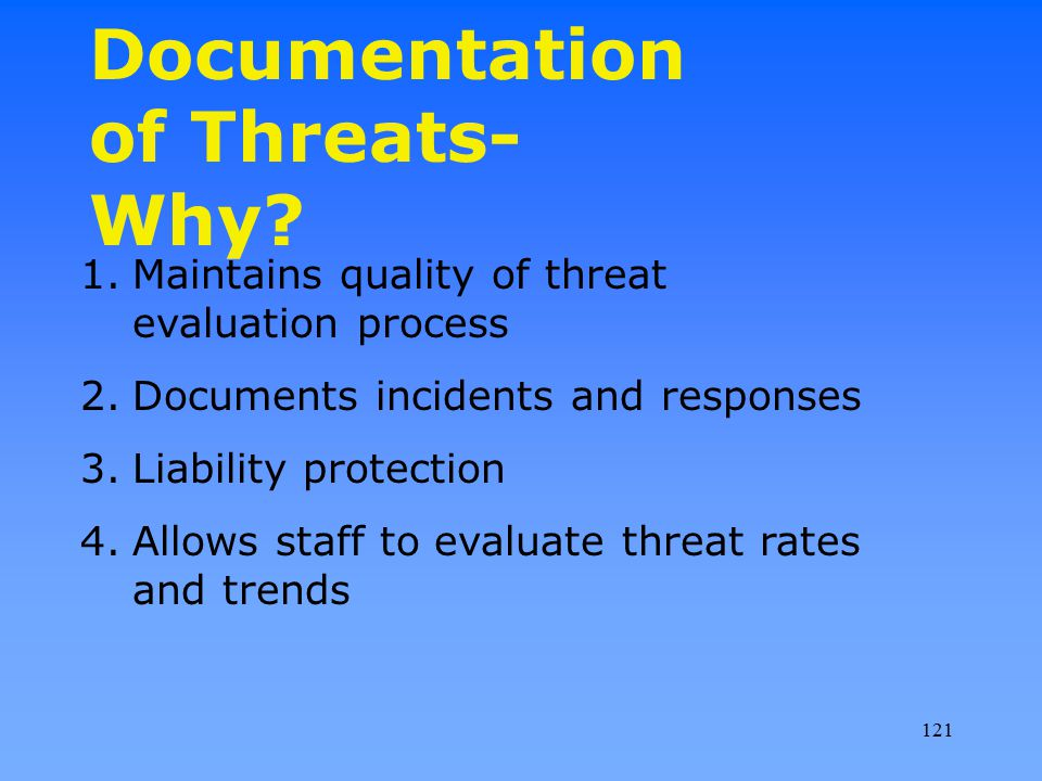 Documentation of Threats-Why