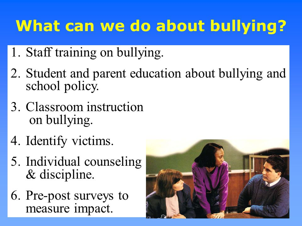 What can we do about bullying