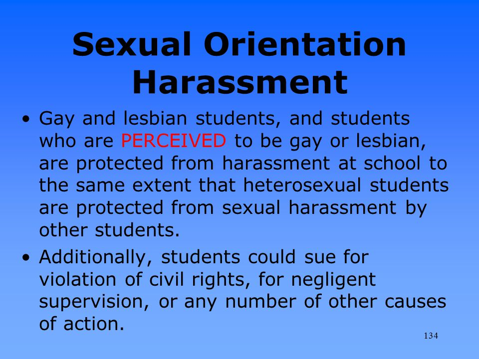 Sexual Orientation Harassment
