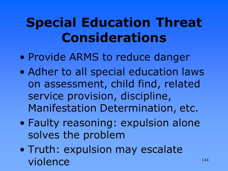 Special Education Threat Considerations