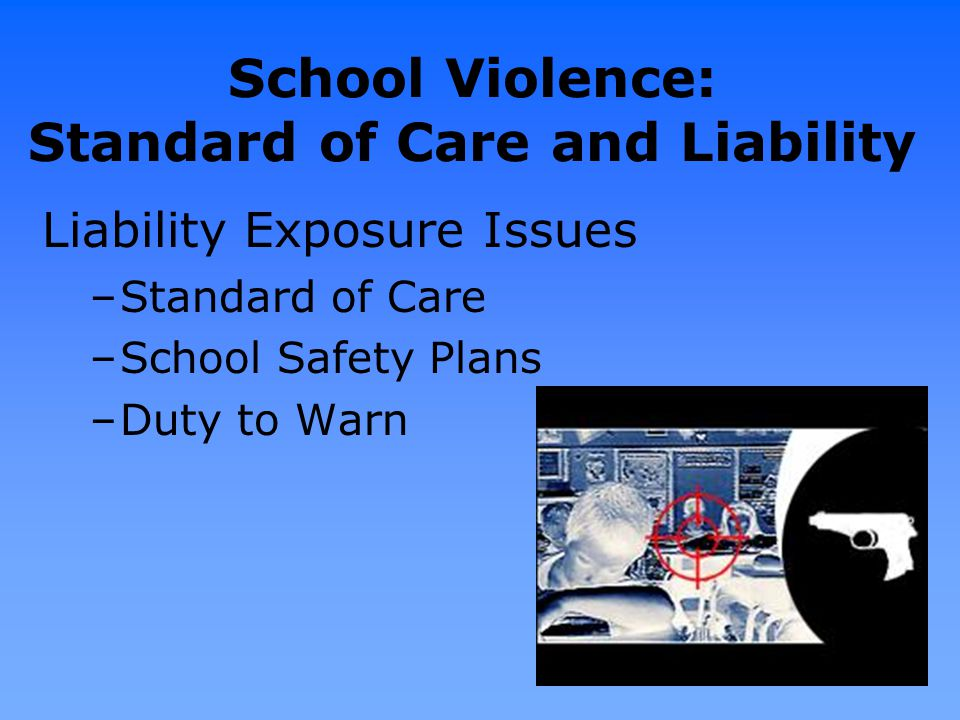 School Violence: Standard of Care and Liability