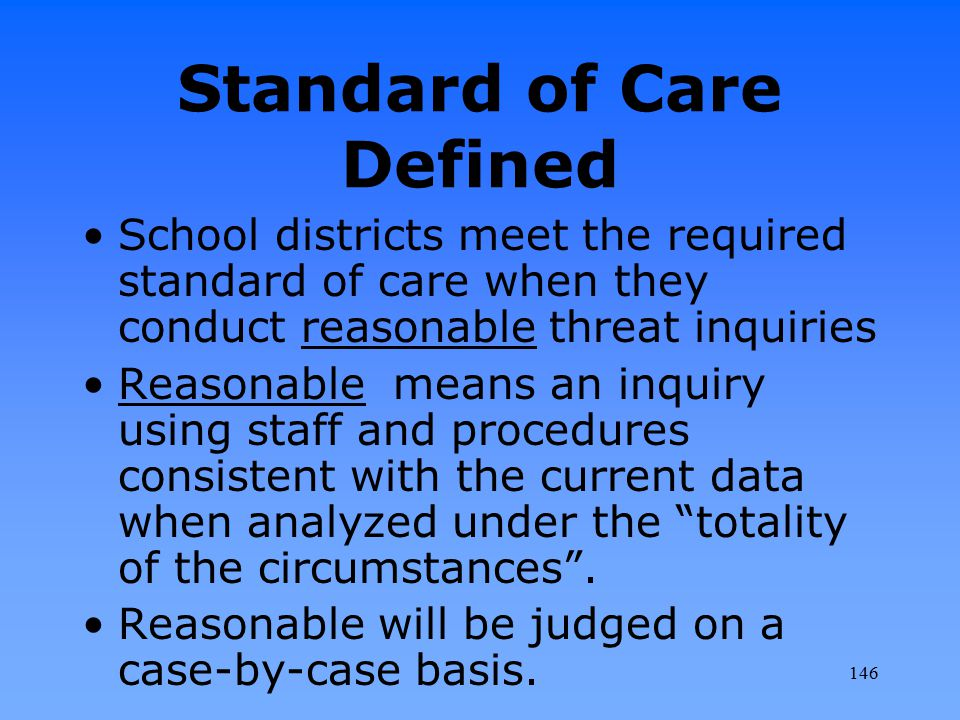 Standard of Care Defined