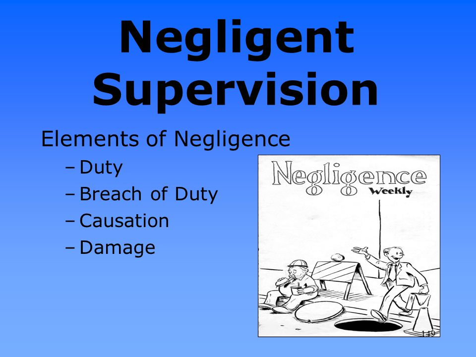 Negligent Supervision
