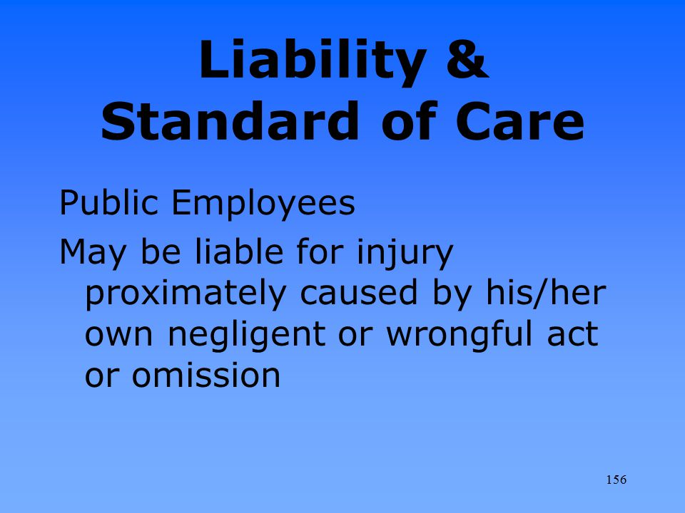 Liability & Standard of Care