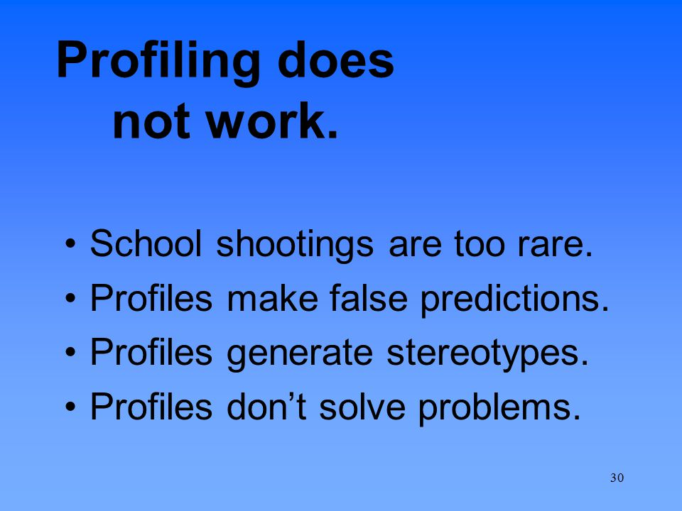 Profiling does not work.