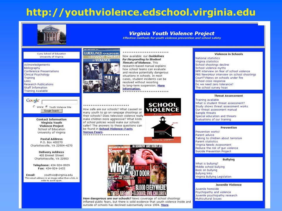 http://youthviolence.edschool.virginia.edu