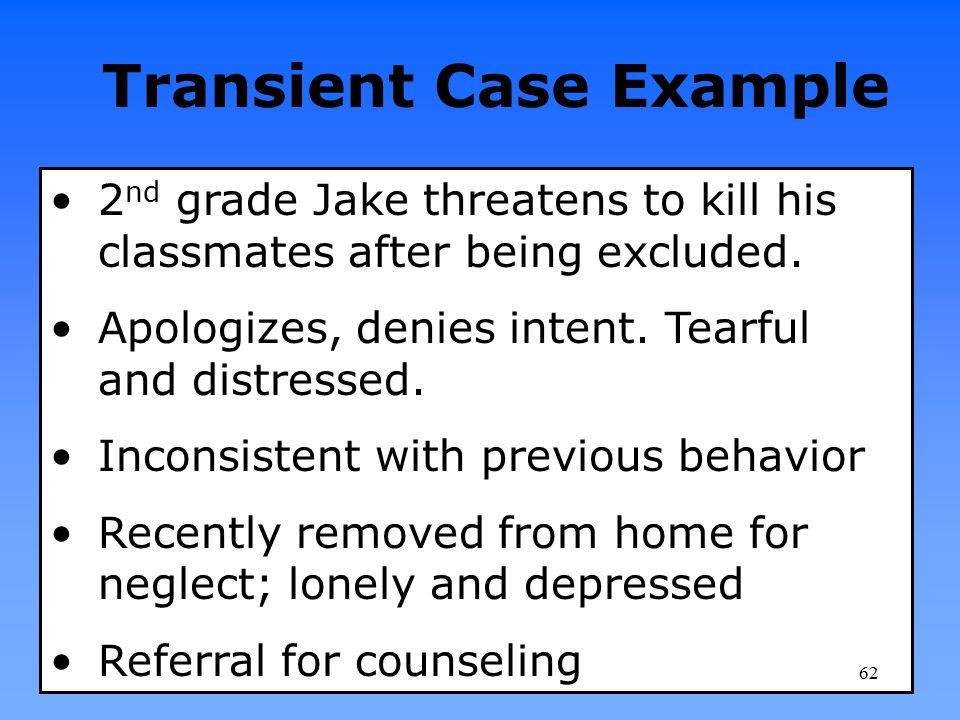 Transient Case Example