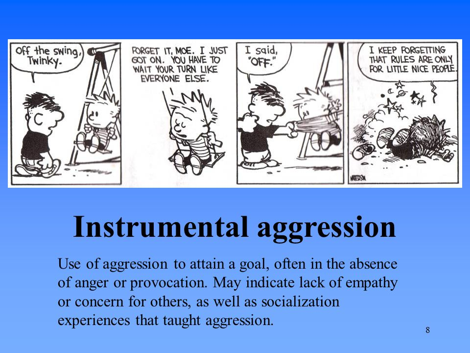 Instrumental aggression