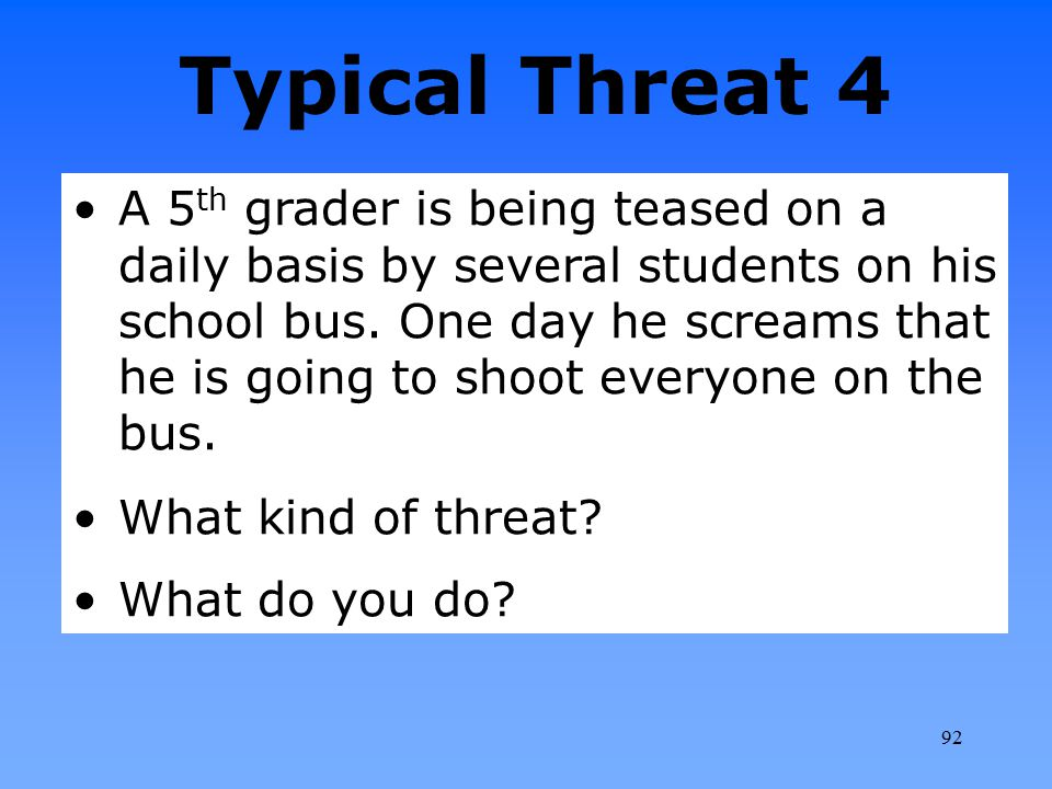 Legally Sound, Effective Guidelines for Responding to Student Threats of Violence