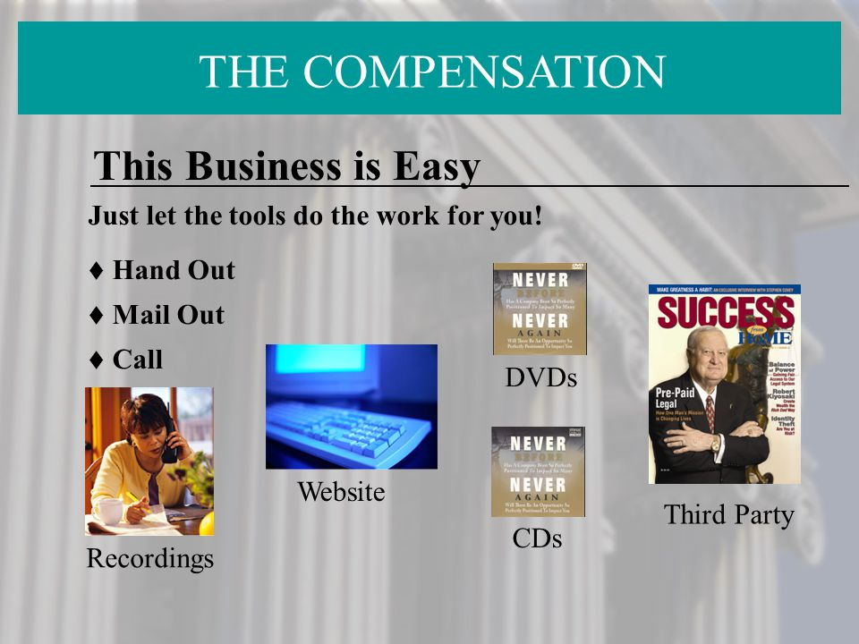 THE COMPENSATION This Business is Easy