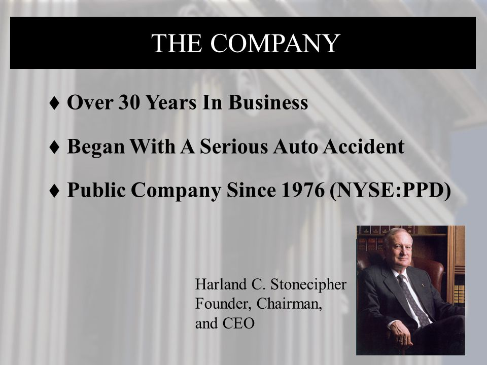 THE COMPANY THE COMPANY THE COMANY Over 30 Years In Business