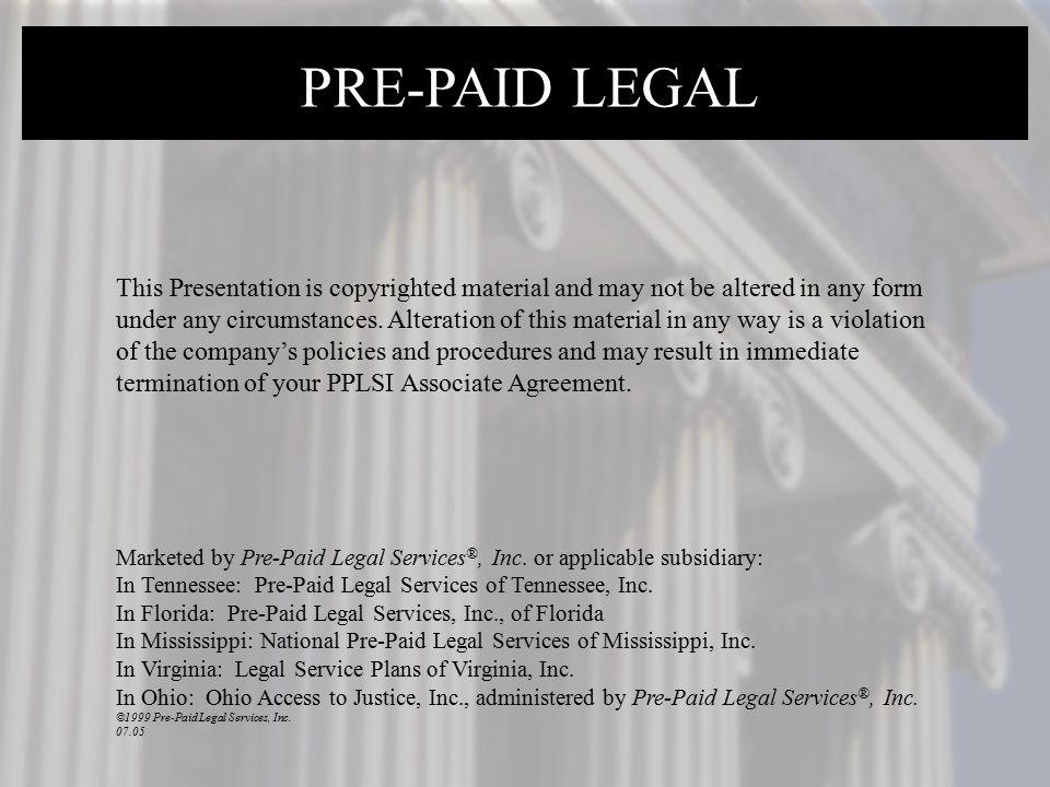 PRE-PAID LEGAL