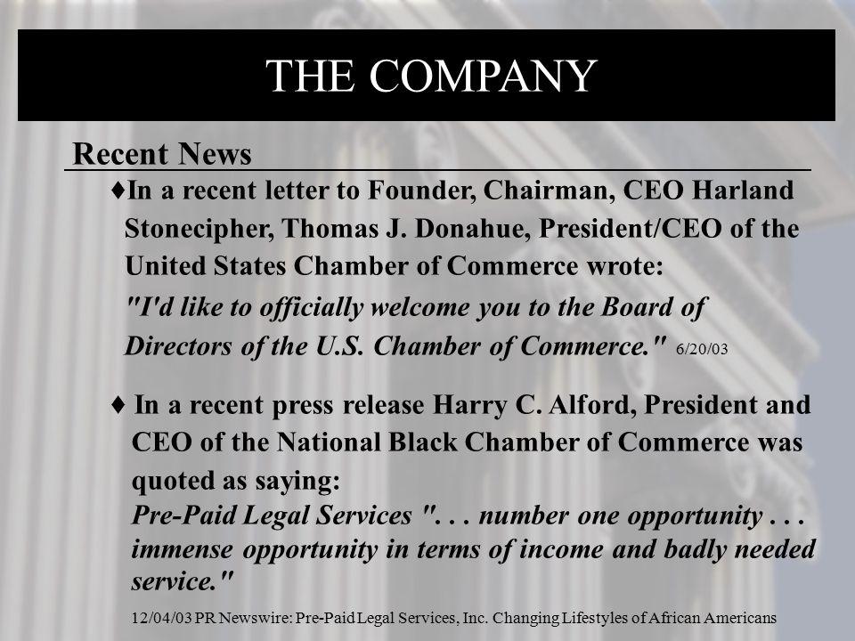THE COMPANY Recent News