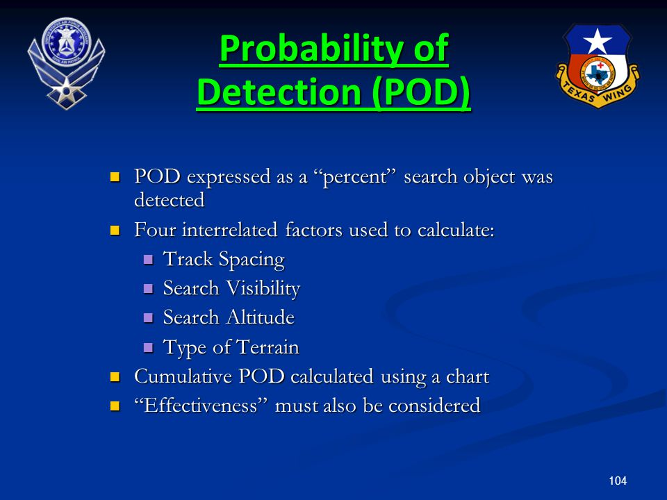 Probability of Detection (POD)