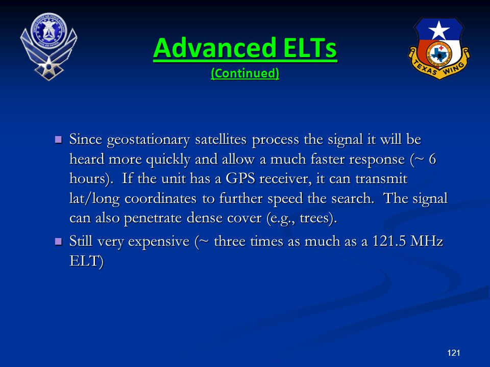Advanced ELTs (Continued)