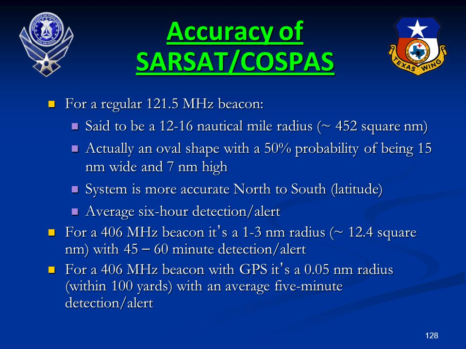 Accuracy of SARSAT/COSPAS