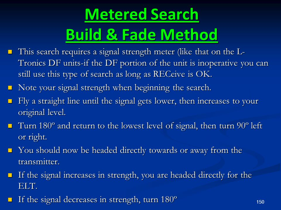 Metered Search Build & Fade Method