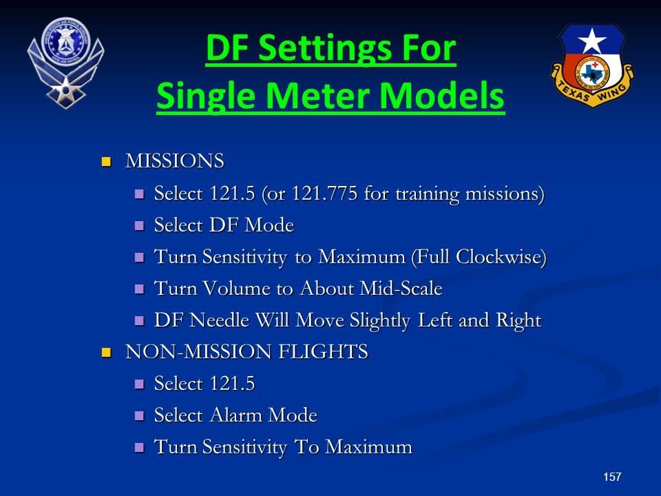 DF Settings For Single Meter Models