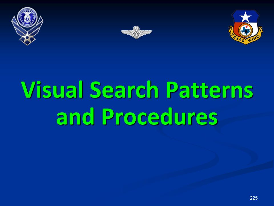 Visual Search Patterns and Procedures