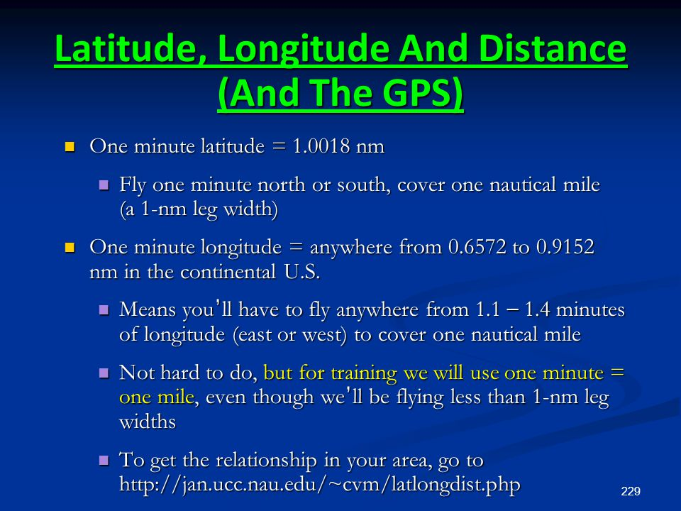 Latitude, Longitude And Distance (And The GPS)