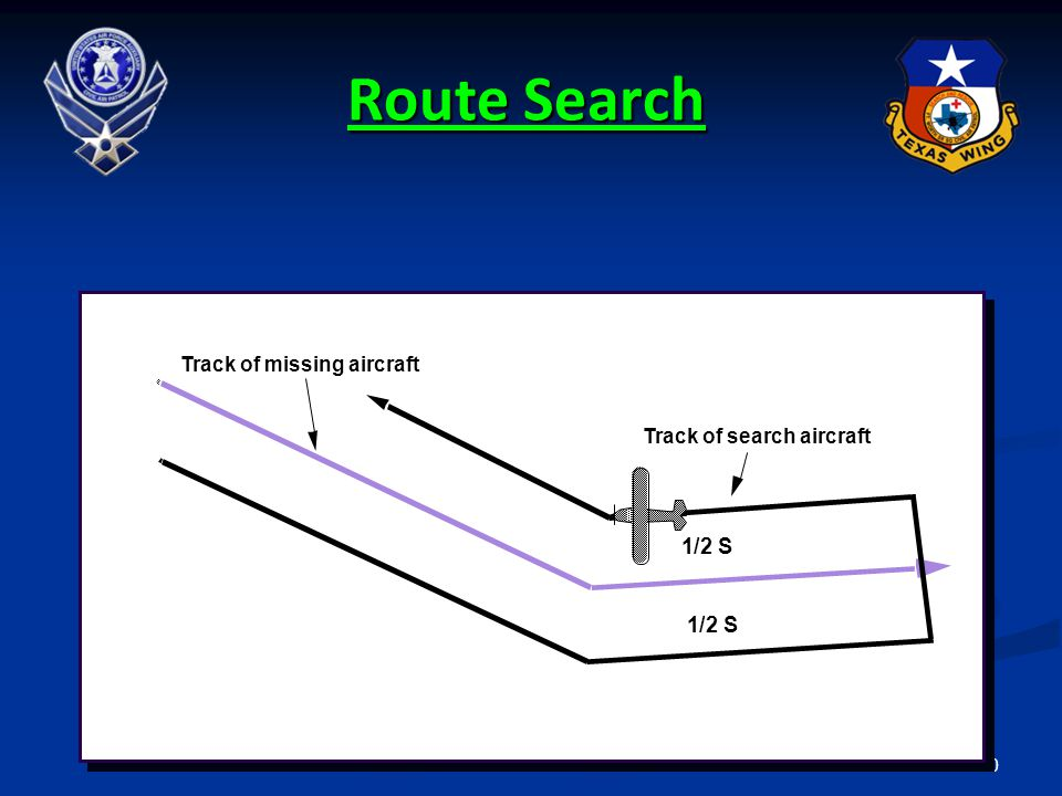 Route Search 1/2 S 1/2 S Track of missing aircraft