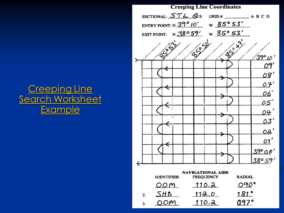 Creeping Line Search Worksheet Example