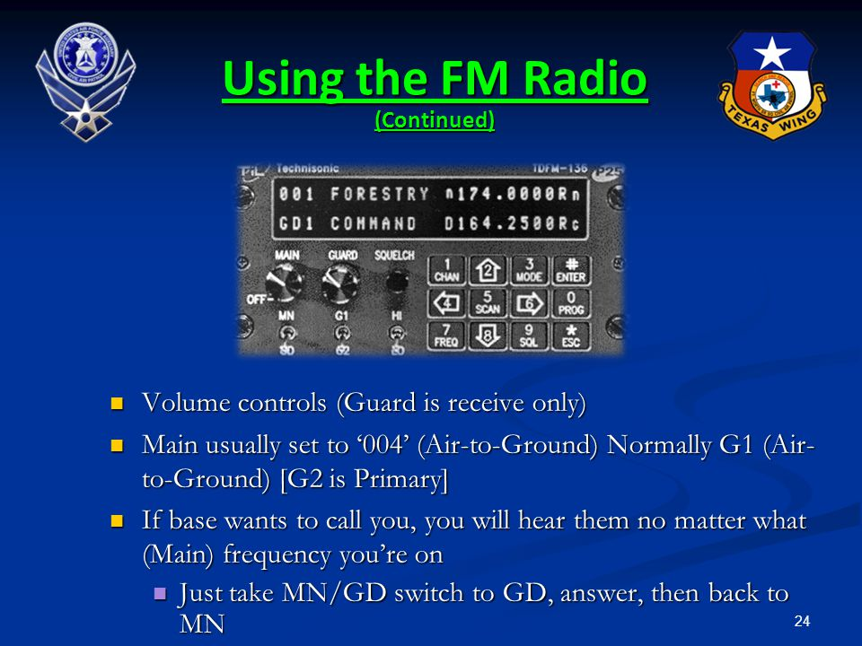 Using the FM Radio (Continued)