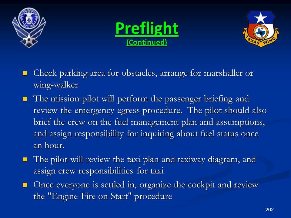 Preflight (Continued)