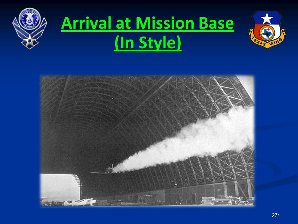 Arrival at Mission Base (In Style)